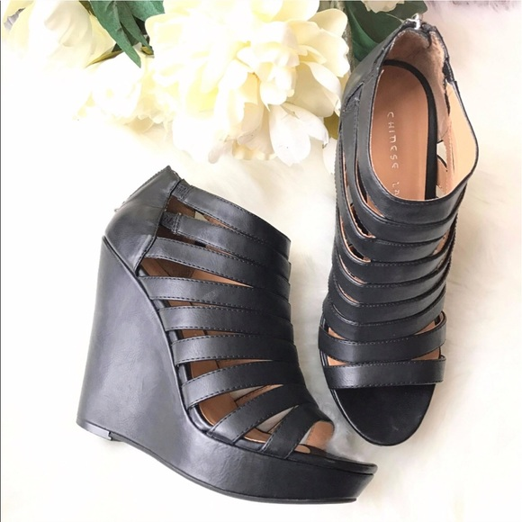 3f28c29bf1ee Chinese Laundry Shoes - Chinese laundry magic moment black platform wedges